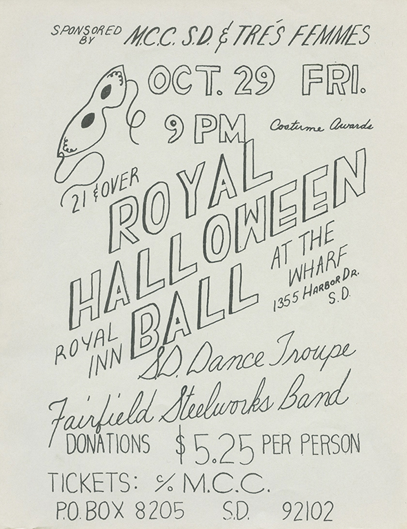 Royal Halloween Ball flyer