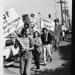 Picket line at SDPD, 1971
