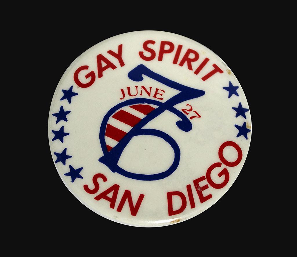 """Gay Spirit"" button, 1976"