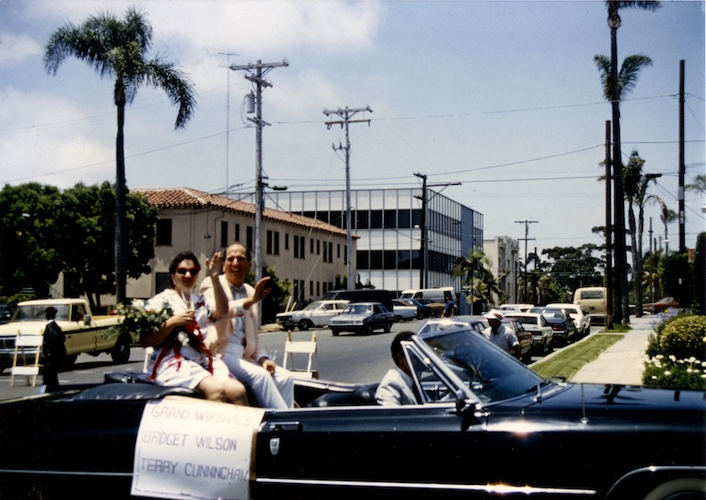 Grand Marshals Bridget Wilson and Terry Cunningham, 1986