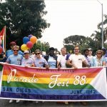 Lambda Pride Board and volunteers at Parade Fest, 1988