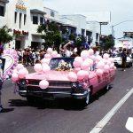 Pink Cadillac in San Diego Pride parade, 1994