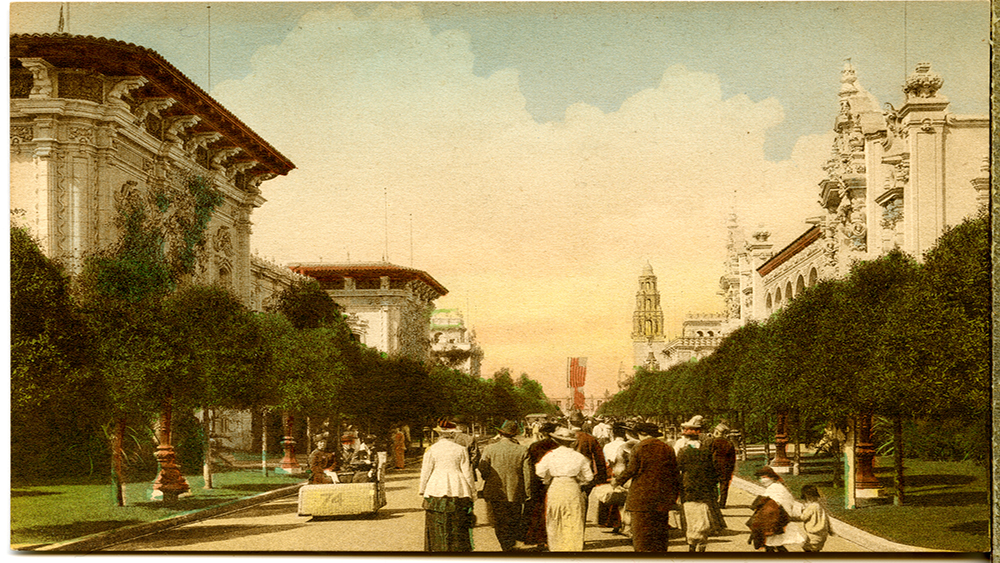 El Prado at the San Diego Exposition, 1915