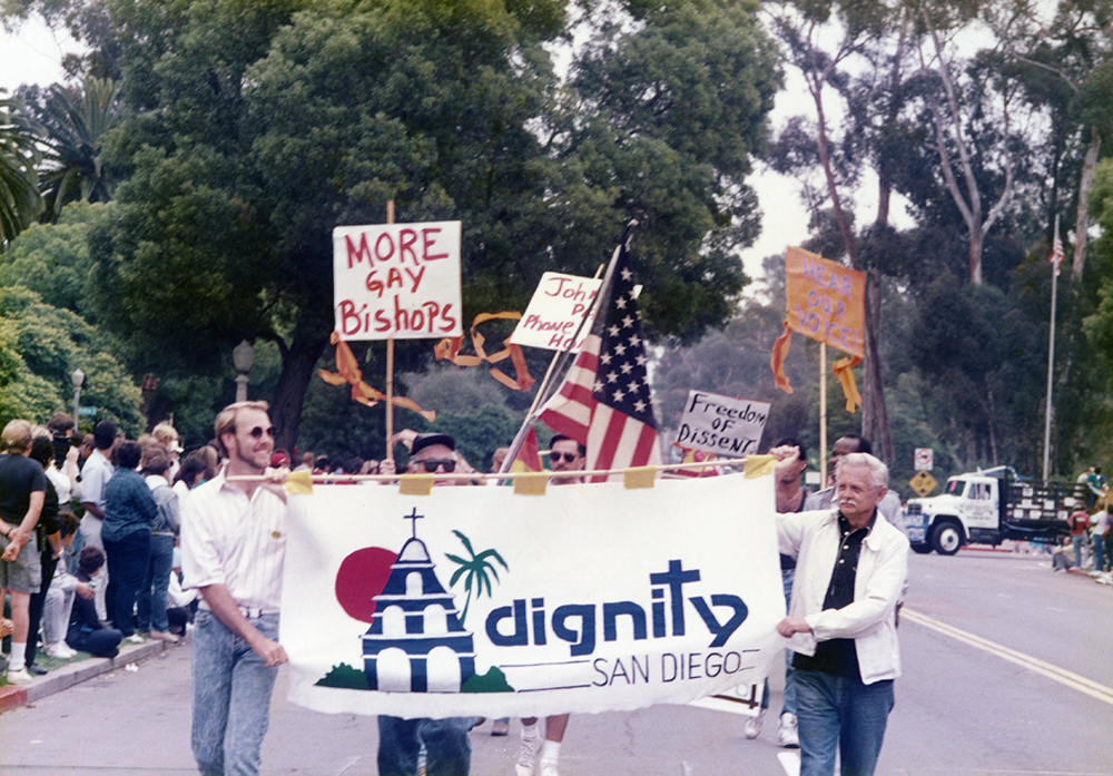 Dignity San Diego marching in the Pride Parade, 1989