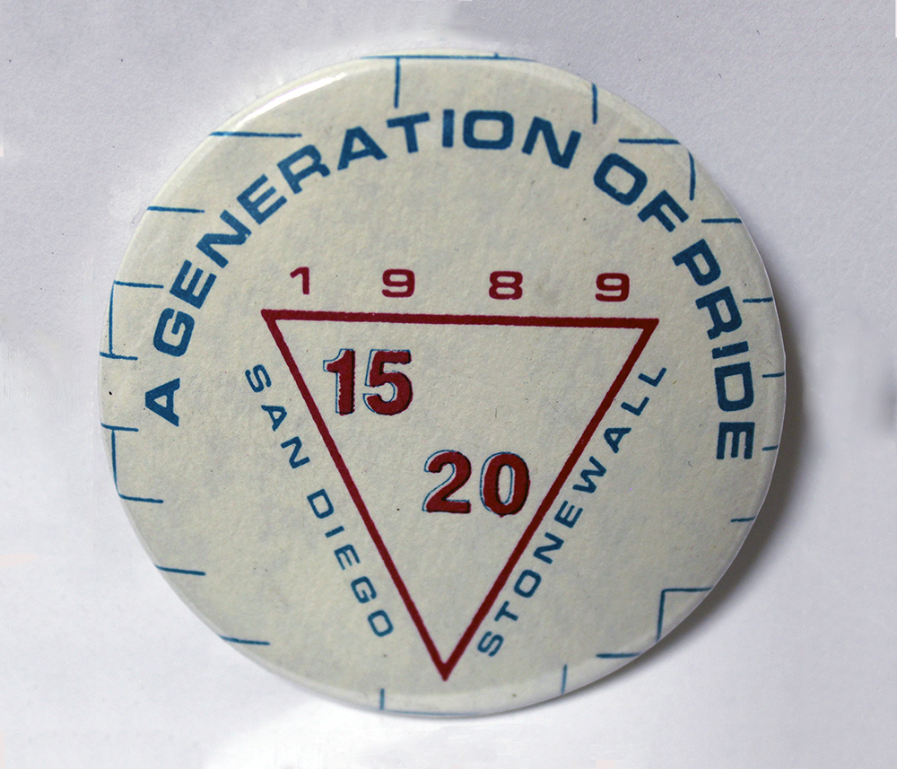Pride button, 1989