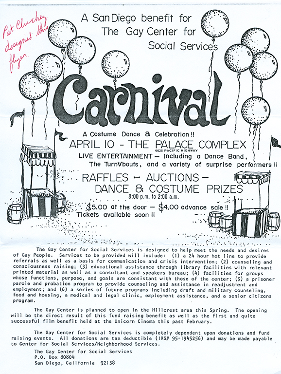 Flyer for carnival fundraiser