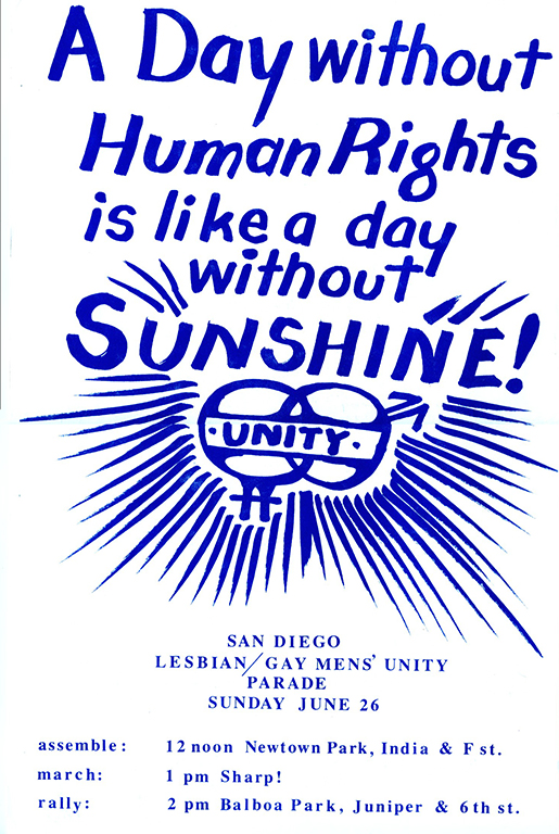 Flyer for 1977 Pride parade