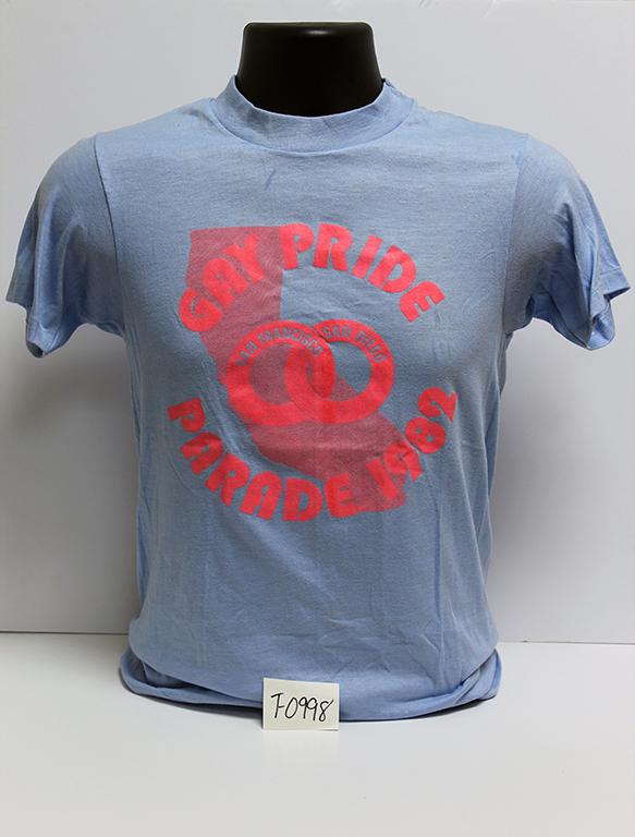 """""""Gay Pride San Francisco/San Diego Parade, 1982"""" t-shirt."""