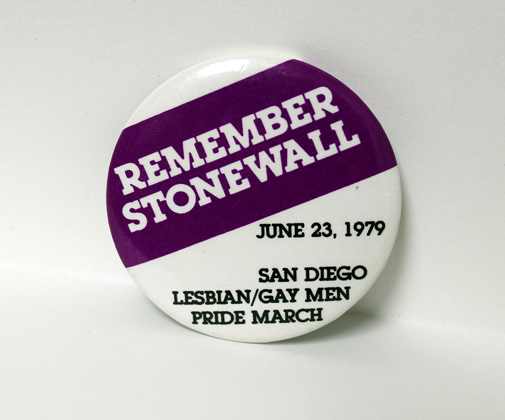 """Remember Stonewall"" button, 1979"