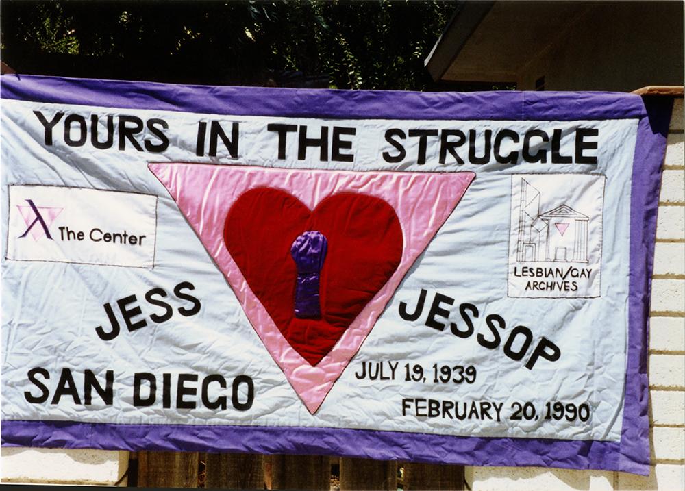Jess Jessop's AIDS quilt panel, 1990