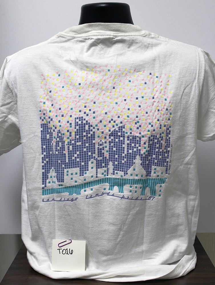 """San Diego Lambda Pride '87"" t-shirt (back)"