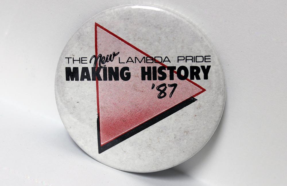 Pride button, 1987